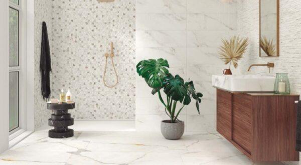 Azulejo porcelánico lancelot gold ambiente