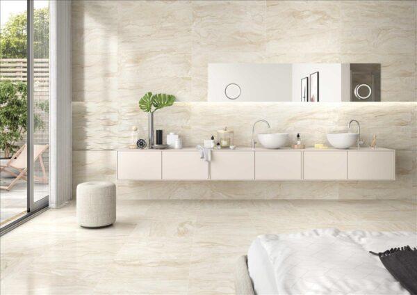 Azulejo porcelánico savona crema ambiente